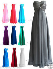 Evening Bridesmaid Dress Formal Gown Wedding Dress Size 6 8 10 12 14 16 Faironly