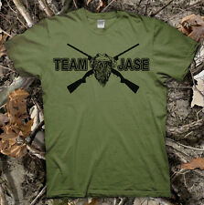 Team Jase! High Quality! T-Shirt DUCK DYNASTY Show Commander Call Hunting Happy!
