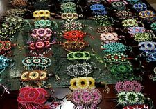 Hand made hair barrette with slide stick pony Tail beaded bead beads. LOT avlbl