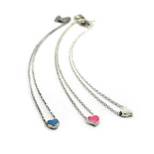 Korean Fashion Cute Pretty Sweet Enamel Love Peach Heart Chain Pendant Necklace