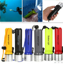 CREE Q5 LED Waterproof Diving Flashlight Torch Dive Underwater Torch 6 Color