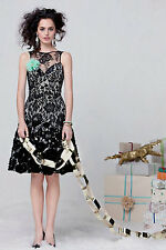 NEW Anthropologie Tracy Reese Flocked Botany Dress $448 Black Lace Modcloth