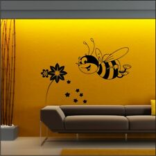 BUMBLE BEE honey busy bees personalised kids nursery bedroom wall art stickers