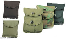 2 Pocket Military Style Utility Ammo Belt Pouch OD Black Camouflage Field Gear