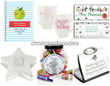 PERSONALISED WORLDS BEST TEACHER Thank You Gifts For Male FEMALE School Presents