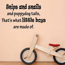 WHAT LITTLE BOYS ARE MADE OF wall quote kids bedroom wall stickers
