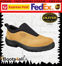 New Oliver Men's Work Safety Boots Shoes Steel Toe Slip On Sports AU Size 34615