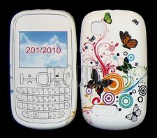 Multi Butterfly Flower Silicone Gel Case Cover For Nokia Asha N200 / 201