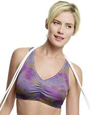 Hanes Women's Stretch Cotton Sport Top Wire Free Bra 2-Pack - style H570