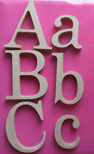 Letters Wooden Mdf Size 100mm to 250mm Unpainted Plaque/Sign Large/Century Fonts
