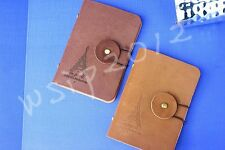 Paris Suede leather ID Credit Card Cards Case Holder Wallet Pocket Tower Style