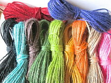 20 mts of Coloured Jute Twine. Choice of colours. tags labels, gift wrap parcels