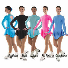 Nylon Lycra Ice Skating Leotard - Dress - Costume - Majorettes  Skirted Bodysuit