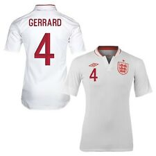 Authentic England Junior Home Shirt 2012 2013, 'Gerrard 4', Size: 11-12 Years