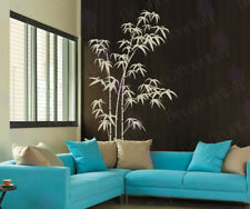 Large Removable Matte Vinyl Wall Decal Sticker Bamboo Tree and Bird Decor