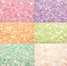 200 x AB RHINESTONES Flat Back Crystals 5mm Decoden CHOOSE COLOURS  UK SELLER!