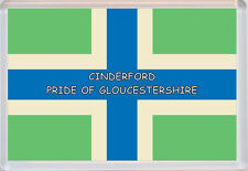 Gloucestershire Pride County Flag Badge - Jumbo Fridge Magent - Gift/Present