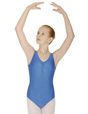 Girls Sleeveless Ballet Leotard Modern Dance Costume Shiny Nylon Lycra Childrens