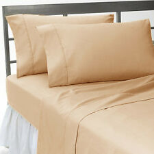 TAUPE SOLID COMPLETE USA BEDDING ITEM 1000TC 100% COTTON CHOOSE SIZE AND ITEMS