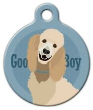GOOD BOY - STANDARD POODLE - Custom Personalized Pet ID Tag for Dog Collars