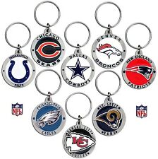CHOOSE TEAM Key Chain Ring New Official NFL Solid Zinc Enameled Keychain Keyring