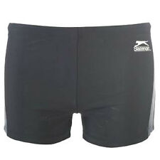 BNWT SLAZENGER Boys Swimming Trunks 7-13y Summer Boxer Swim Shorts BLACK/NAVY
