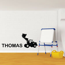 CONSTRUCTION DIGGER wall decal for kids bedroom boys wall stickers