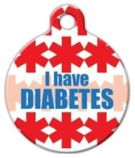 I HAVE DIABETES - Custom Personalized Pet ID Tag for Dog and Cat Collars