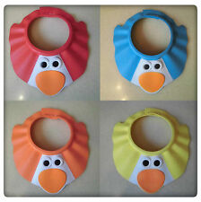 BABY SHOWER CAP KIDS SOFT ADJUSTABLE SHAMPOO BATH BATHING SHIELD HAT
