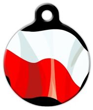 POLAND FLAG - Custom Personalized Pet ID Tag for Dog and Cat Collars