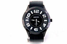 Men`s Watch with big dial color numbers, stainless steel back, Water Resistant