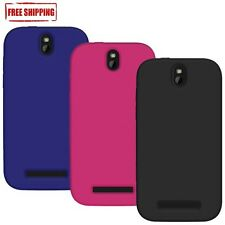 NEW AMZER PREMIUM SILICONE SOFT SKIN JELLY FIT CASE COVER FOR HTC ONE SV