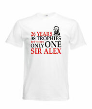 ONLY ONE SIR ALEX T SHIRTS GREAT QUALITY FAST POST 7 COLOURS AVAILABLE