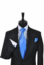 Men's & Boy's Wedding Formal Business Tie In Shades of Blue