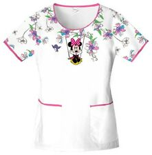 Cherokee Swinging Minnie Women's Scoop Neck Scrub Top 6759B by Disney