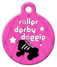 ROLLER DERBY DOGGIE - Custom Personalized Pet ID Tag for Dog and Cat Collars