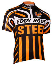 SALE Eddy Rode Steel Cycling Jersey by Retro Men's Short Sleeve with DeFeet Sox