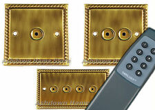 G&H Monarch Roped Antique Bronze Remote & Touch Control Dimmer Light Switches