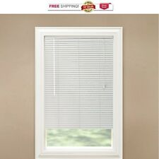 "Bali 1"" inch White Aluminum Mini Blinds YOU PICK THE SIZE"