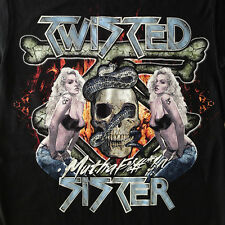 "NEW! Twisted Sister ""Skull Chick"" Classic Heavy Metal Rock Band Adult T-Shirt"