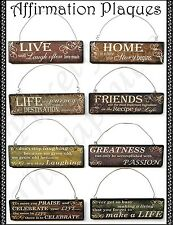 ~INSPIRATIONAL/AFFIRMATION WALL HANGING PLAQUE~Positive Words~Saying~Harmony~