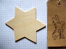 Wooden Shape Star of David Pack of 3, 6, or 9 Wood Embellishment blank plaques