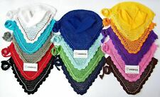 FLY VEIL HORSE EAR NET CROCHET EQUESTRIAN WITH PIPING 12 COLORS FULL, COB, PONY