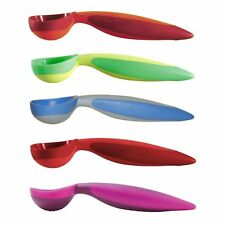 Mastrad Orka Easy Release Silicone Ice Cream Scoop - Red Orange Green Blue Pink