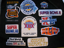 NEW NFL Iron ON Patch or Applique; Choice of (1)!!! VINTAGE SUPERBOWL PATCH