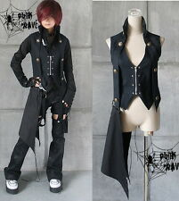 Japan Unisex Visual KEI punk gothic rock kera rock vest top shirt Black S~XL