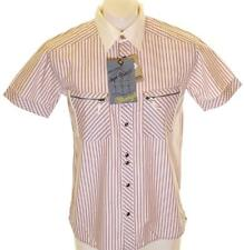 Bnwt Authentic Mens Wrangler Short Sleeve Striped Shirt RRP£59.99 Regular Fit