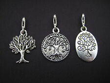 Clip On Silver Tree Of Life Charm (Pick Your Charm)