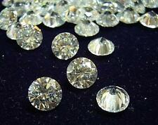 AA GRADE - LAB CREATED CUBIC ZIRCONIA *ROUND LOOSES LOT (WHITE/CLEAR)