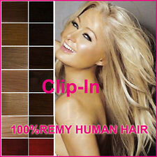 """Easy Clip In on 100% Real Remy Human Hair Extensions DIY Full/Half Head 15""""-22"""""""